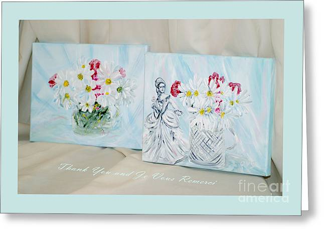 Thank You - Je Vous Remerci Collection 2016 Greeting Card by Oksana Semenchenko