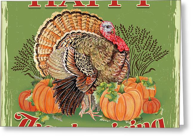 Greeting Card featuring the painting Thanksgiving-b by Jean Plout