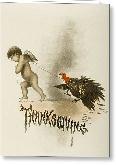 Thanksgiving Day Menu. Cunard West Greeting Card