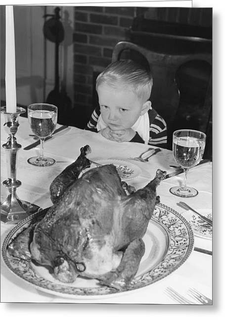 Thanksgiving Dinner Greeting Card by American School