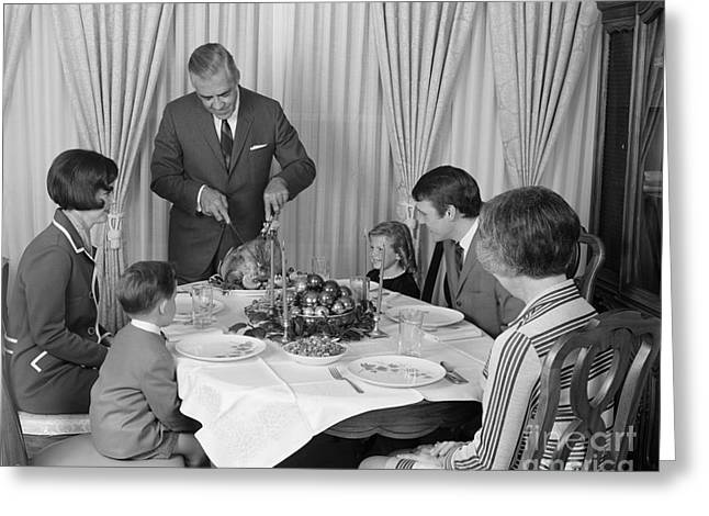 Thanksgiving Dinner, C.1960s Greeting Card by H. Armstrong Roberts/ClassicStock