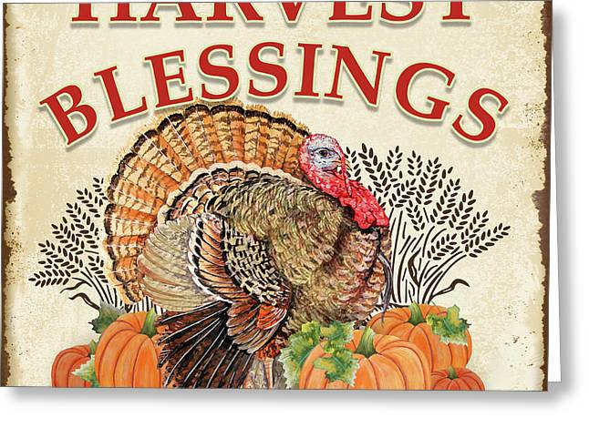 Greeting Card featuring the painting Thanksgiving-e by Jean Plout