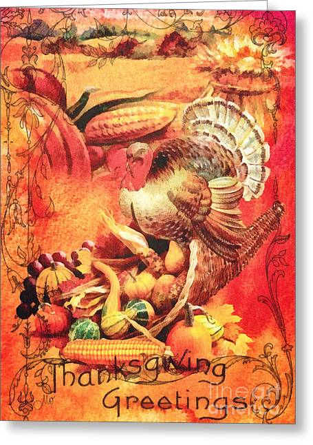 Thanksgiving Greeting Card by Mo T