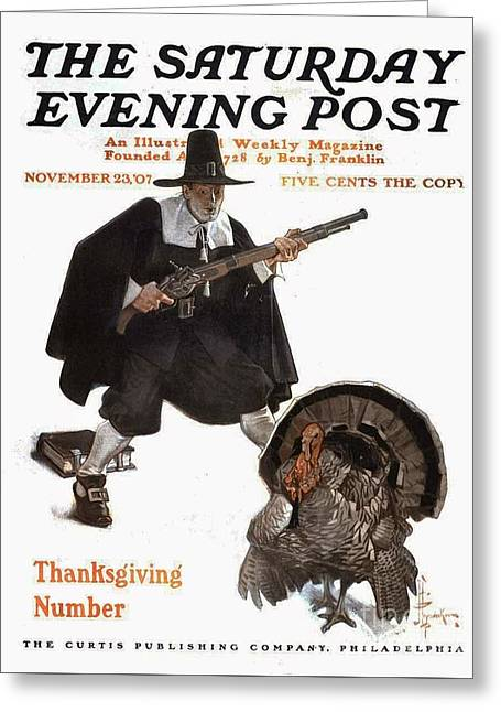 Thanksgiving The Saturday Greeting Card by MotionAge Designs