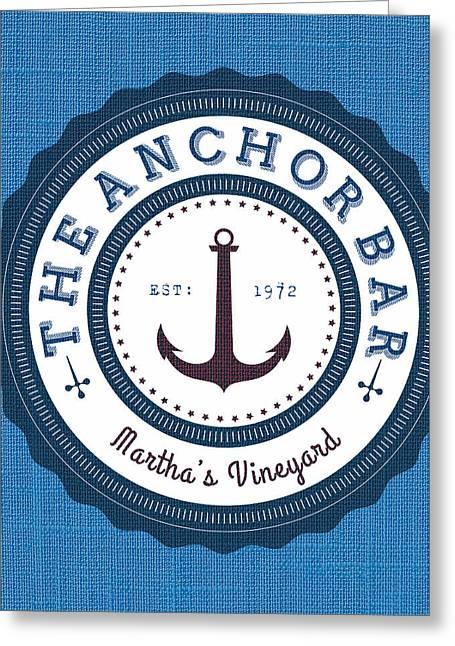 That Anchor Bar Martha's Vineyard Greeting Card by Brandi Fitzgerald