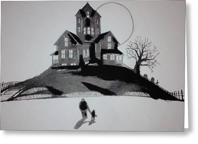 That House Greeting Card by Ronald Mcduff
