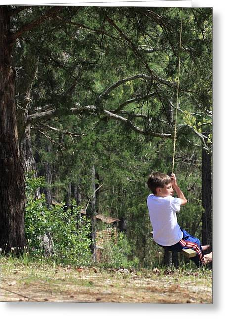 Greeting Card featuring the photograph That Ole' Rope Swing by Kim Henderson