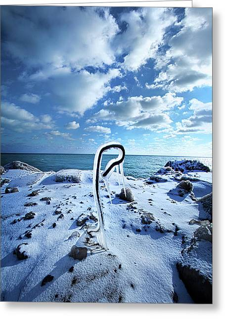 That One Weird Thing Greeting Card by Phil Koch