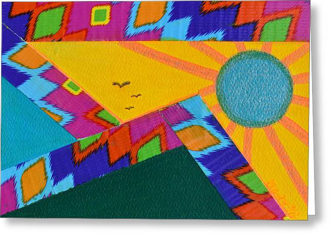 That Santa Fe Feeling Greeting Card by Donna Blackhall