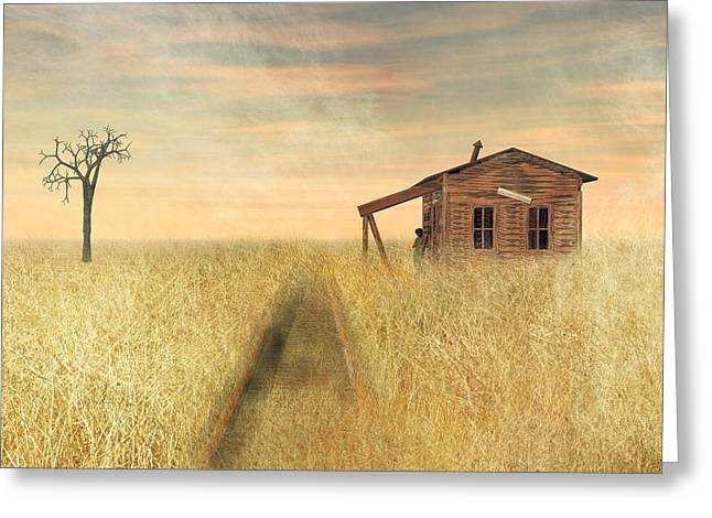 That Train Don't Stop Here Anymore II Greeting Card by Carol and Mike Werner