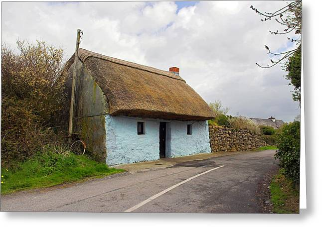 Thatch Roof Cottage Galway Greeting Card by Pierre Leclerc Photography