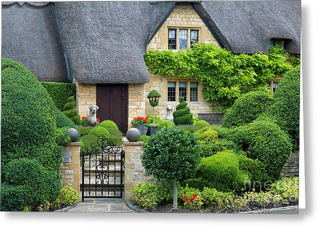 Greeting Card featuring the photograph Thatch Roof Cottage Home by Brian Jannsen