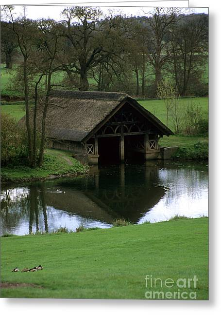 Thatched Boat House Greeting Card by Robert  Torkomian