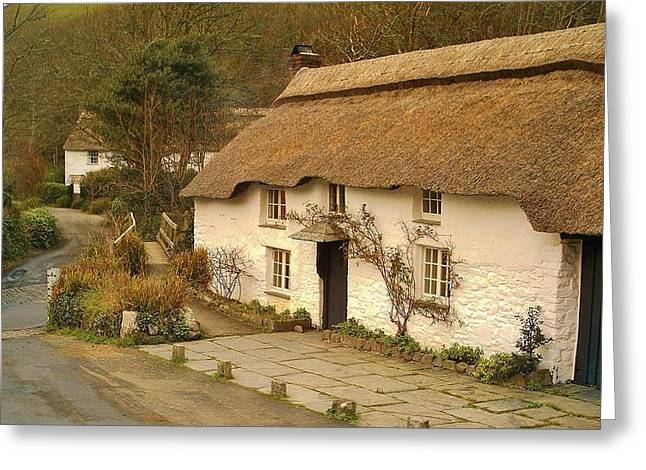 Thatched Cottage By Ford  Greeting Card