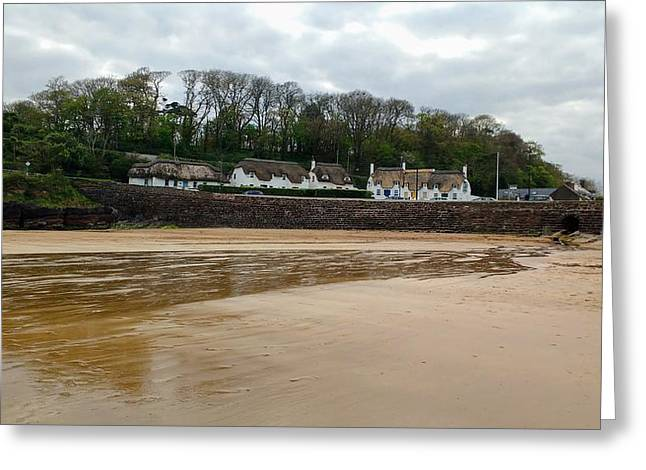 Thatched Cottages In Dunmore East Ireland  Greeting Card