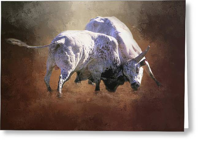 Greeting Card featuring the photograph That's A Lot Of Bull by Donna Kennedy