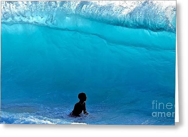 That's A  Wave - Kekaha Beach Greeting Card by Debra Banks