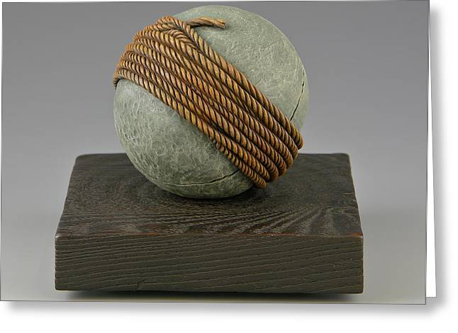 Round Sculptures Greeting Cards - Thats a Wrap Greeting Card by Jacques Vesery