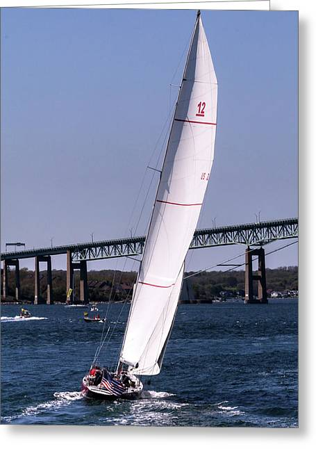 Greeting Card featuring the photograph The 12 Newport Rhode Island by Tom Prendergast