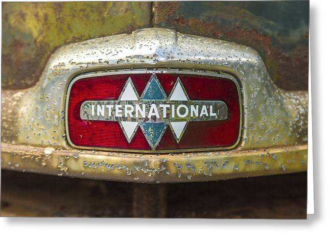 The 1947 International Emblem Ihc Trucks Greeting Card by Reid Callaway