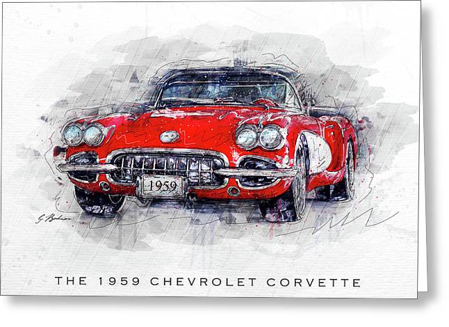 The 1959 Chevrolet Corvette Greeting Card