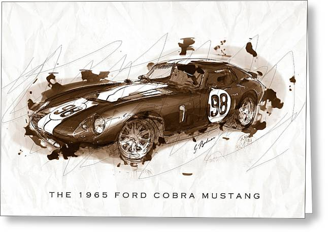 The 1965 Ford Cobra Mustang Greeting Card by Gary Bodnar