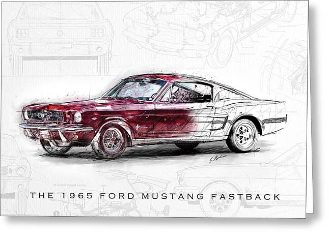 The 1965 Ford Mustang Fastback  Greeting Card
