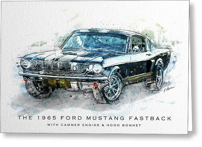 The 1965 Ford Mustang Fastback II Greeting Card