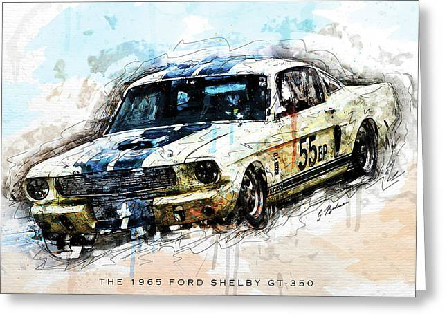 The 1965 Ford Shelby Gt 350 II Greeting Card by Gary Bodnar