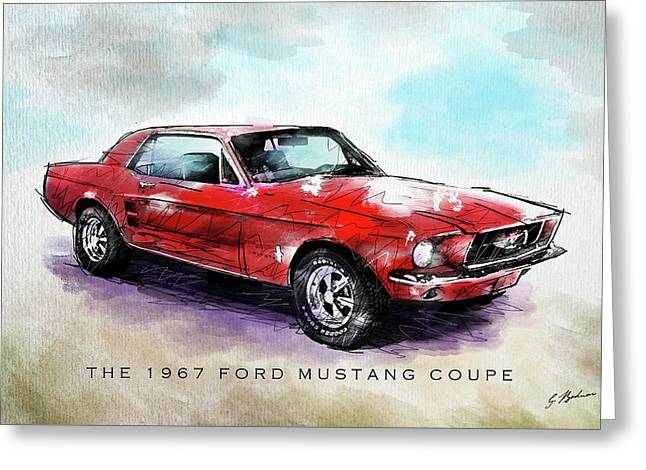 The 1967 Ford Mustang Coupe Greeting Card