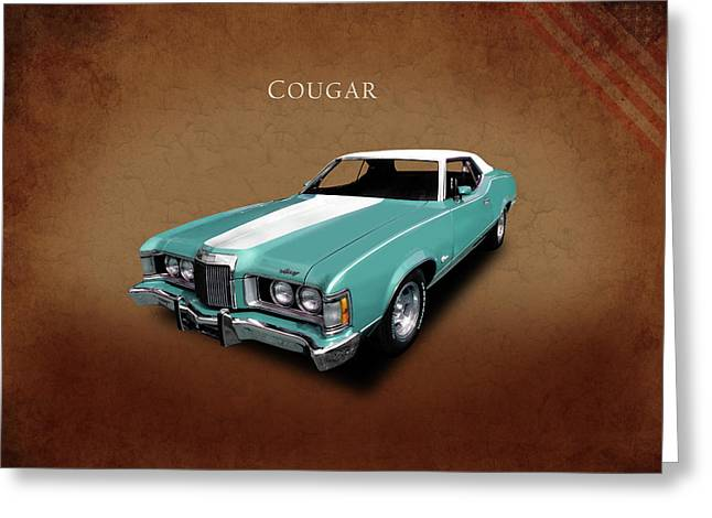 The 1973 Cougar Greeting Card by Mark Rogan