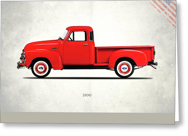 The 3100 Pickup Truck Greeting Card by Mark Rogan