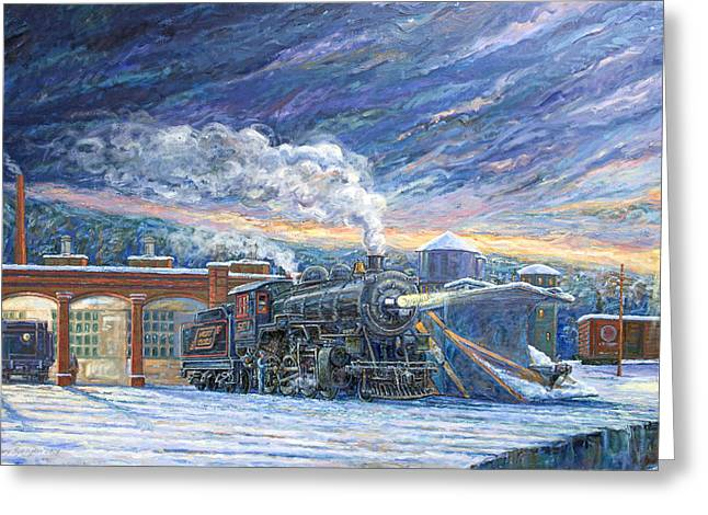The 501 In Winter Greeting Card by Gary Symington