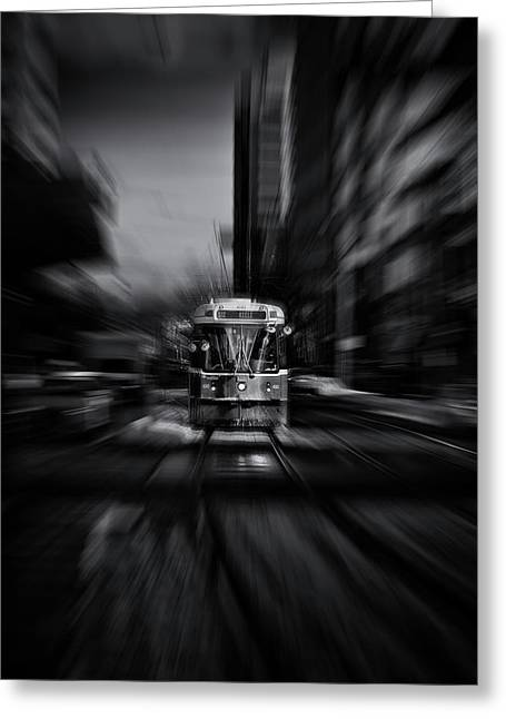 The 512 St. Clair Streetcar Toronto Canada Flow Greeting Card by Brian Carson