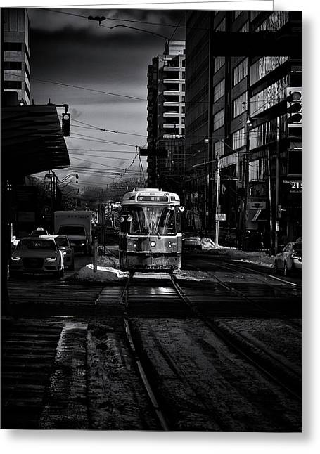 Greeting Card featuring the photograph The 512 St.clair Streetcar Toronto Canada by The Learning Curve Photography