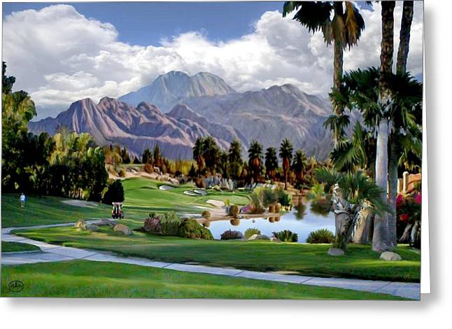 The 5th At Woodhaven Greeting Card by Ron Chambers