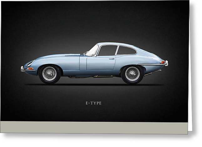 The 65 E-type Coupe Greeting Card by Mark Rogan