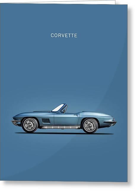 The 67 Corvette Stingray Greeting Card by Mark Rogan