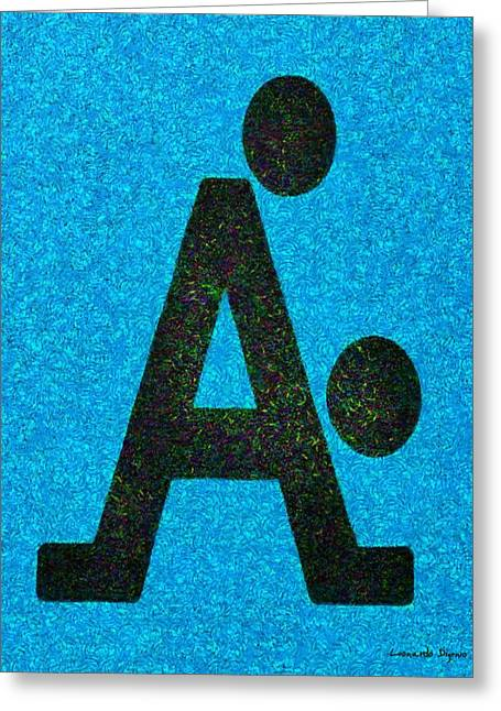 The A With Style Blue - Pa Greeting Card