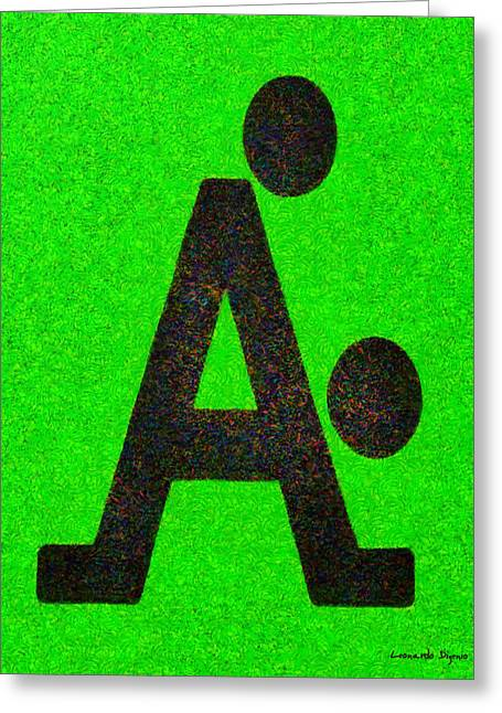 The A With Style - Pa Greeting Card