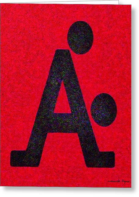 The A With Style Red - Pa Greeting Card