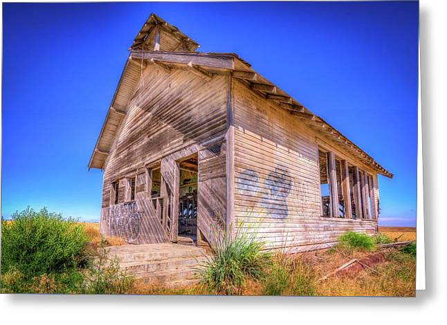 The Abandoned School House Greeting Card by Spencer McDonald