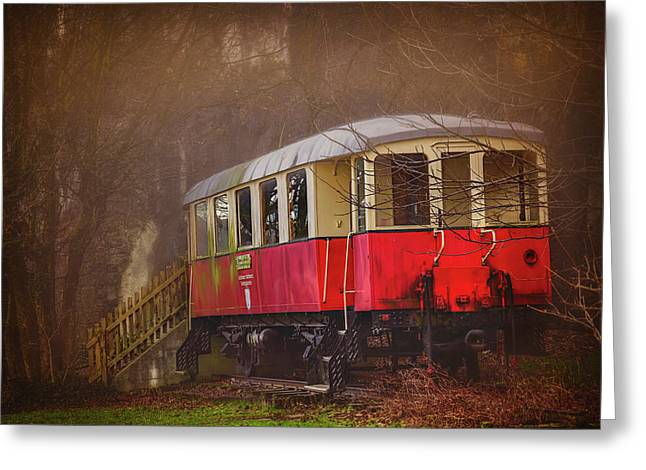 Greeting Card featuring the photograph The Abandoned Tram In Salzburg Austria  by Carol Japp