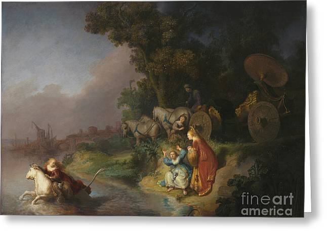 The Abduction Of Europa By Rembrandt Harmensz. Van Rijn Greeting Card