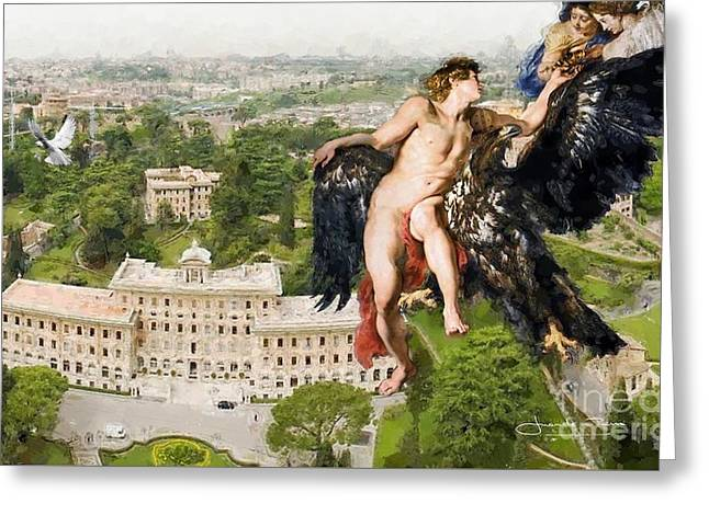 The Abduction Of Ganymede From St.peters Basilica Greeting Card by Art Gallery