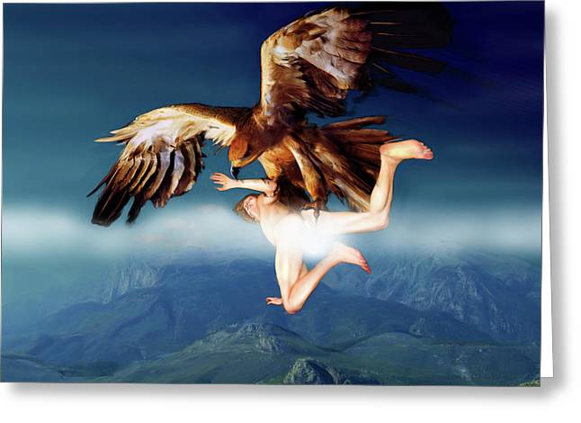 The Abduction Of Ganymedes By The Eagle Greeting Card