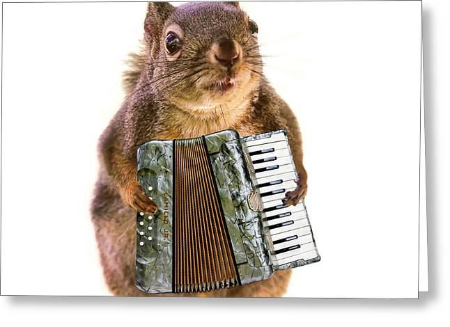 The Accordion Player Greeting Card