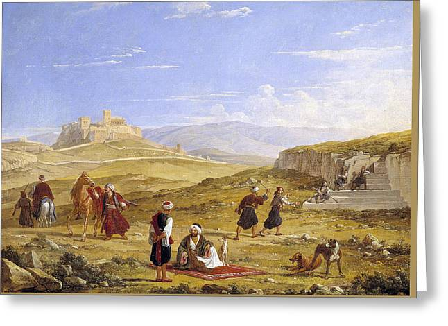 The Acropolis And Areopagus Greeting Card
