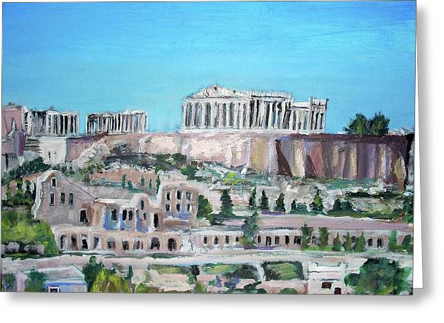 The Acropolis Hills Greeting Card