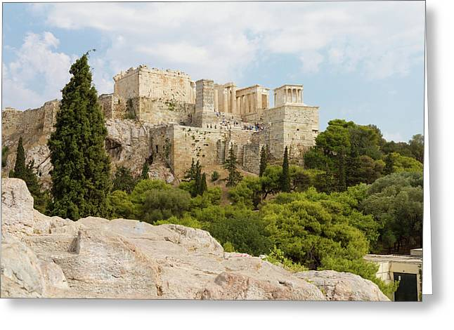 The Acropolis Of Athens, Greece Greeting Card
